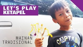 Main Ketapel - Mainan Tradisional - Membuat Ketapel dari Stik Es krim