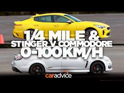 Kia Stinger v Chevrolet SS/Holden Commodore SS-V Redline: 1/4 mile and 0-100