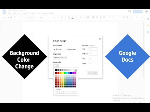 How To Change Document Background Color In Google Docs 2019