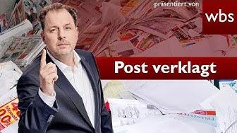 Briefkasten-Werbung: Jetzt wird die Post verklagt | Rechtsanwalt Christian Solmecke