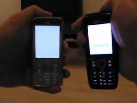 Nokia E51 vs Nokia N82 startup time