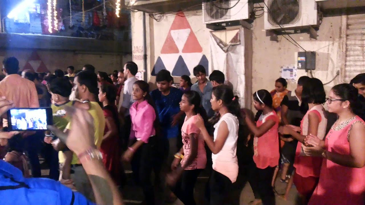 celebrating navaratri playing garba in society on  celebrating navaratri playing garba in society on 18102015 41