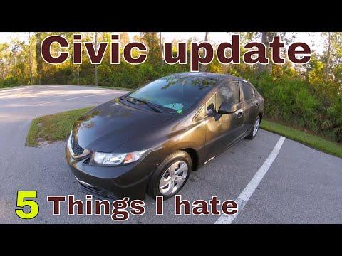 Civic update 5 things I hate (2013 Civic LX)