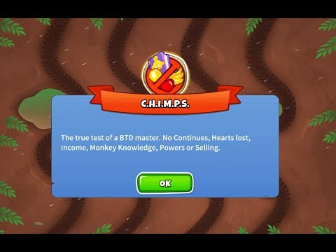 BTD6 - Muddy Puddles CHIMPS (Round 8, 1 Red bloon off!)