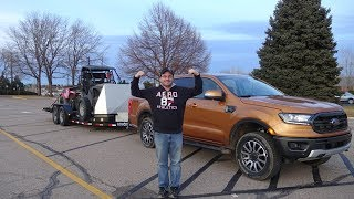 Ranger review trailering in Colorado with aftermarket trailer brake controller