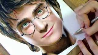 Drawing Harry Potter(My Facebook Page: https://www.facebook.com/ArtistHeatherRooney Prismacolor colored pencil drawing of Daniel Radcliffe as Harry Potter. Music: Harry Potter ..., 2013-07-25T03:08:24.000Z)