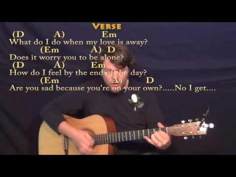 With A Little Help From My Friends (Beatles) Strum Guitar Cover Lesson in D with Chords/Lyrics