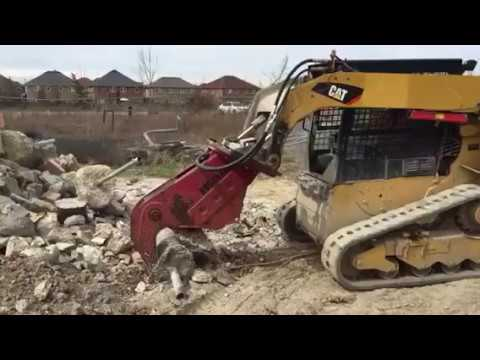 Concrete Crusher On Skid Steer Youtube
