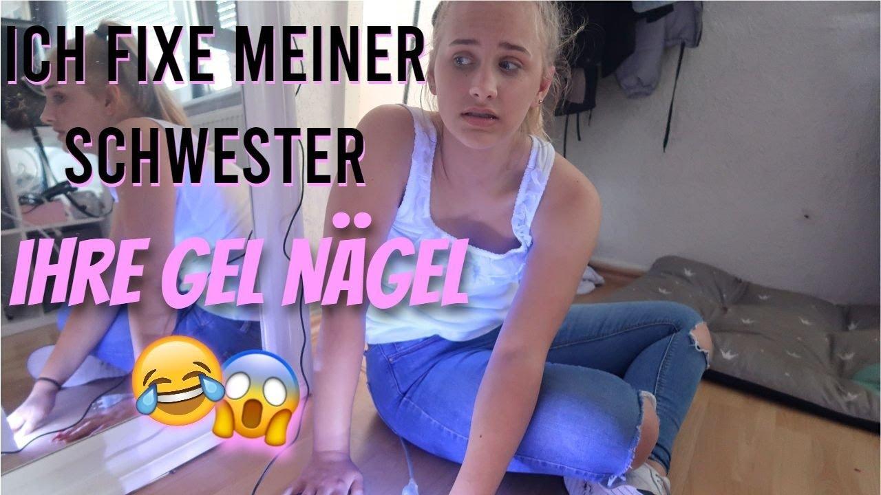 Ich fixe meiner Schwester ihre GEL NÄGEL (Vlog)