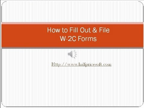 How to fill out and file w2c form youtube for W2c template