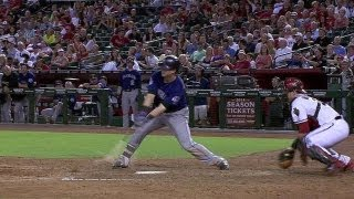 Dickerson cracks double on a bounced pitch