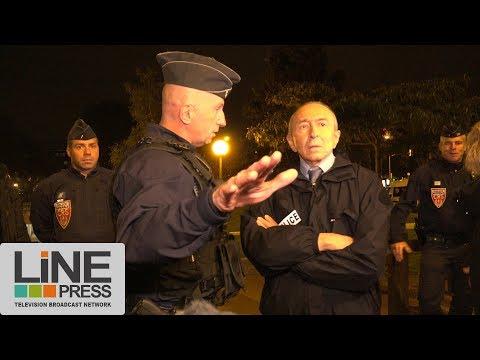 Gérard Collomb visite des policiers / Juvisy - Viry-Chatillon (91) - France 08 octobre 2017
