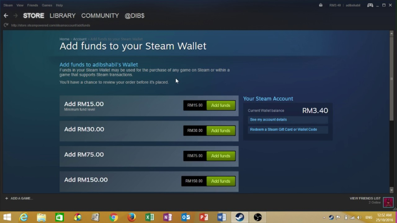 HOW TO TOP UP YOUR STEAM - YouTube