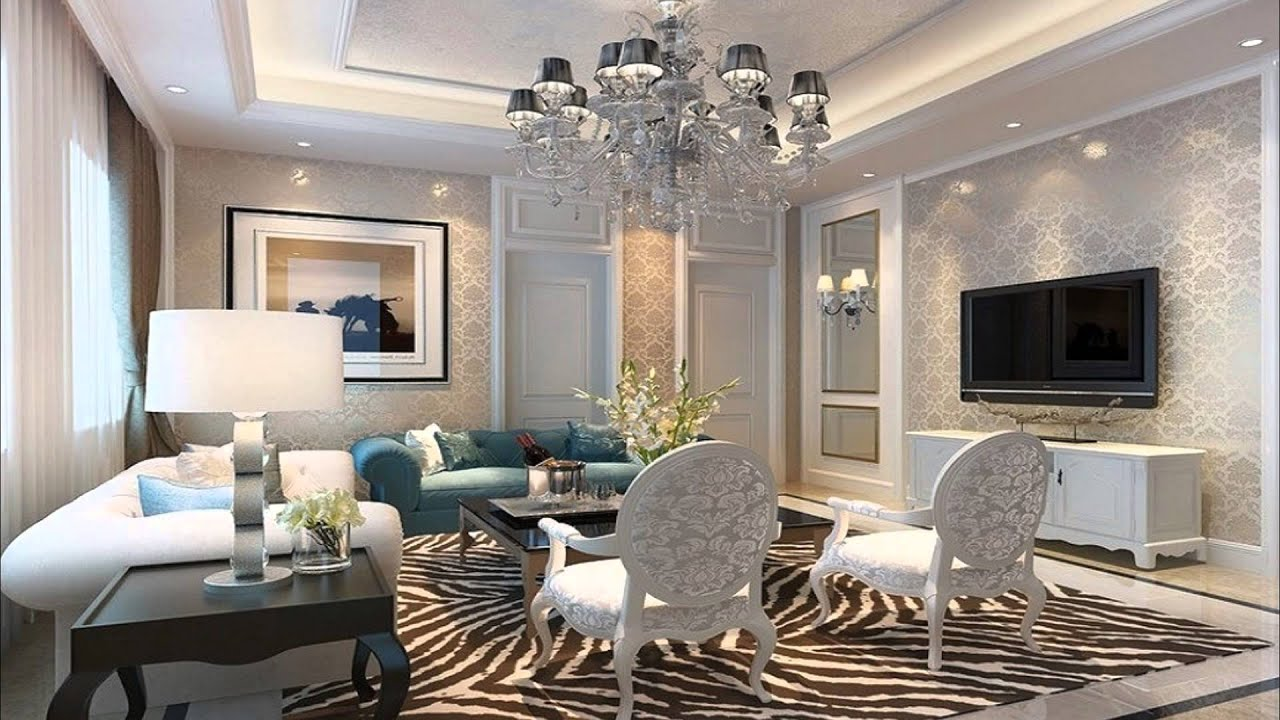 Living room design ideas lcd wall design ideas youtube for Drawing room design photos