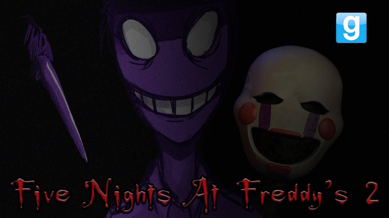 Gmod fnaf horror map w yami part 3 purple guy youtube