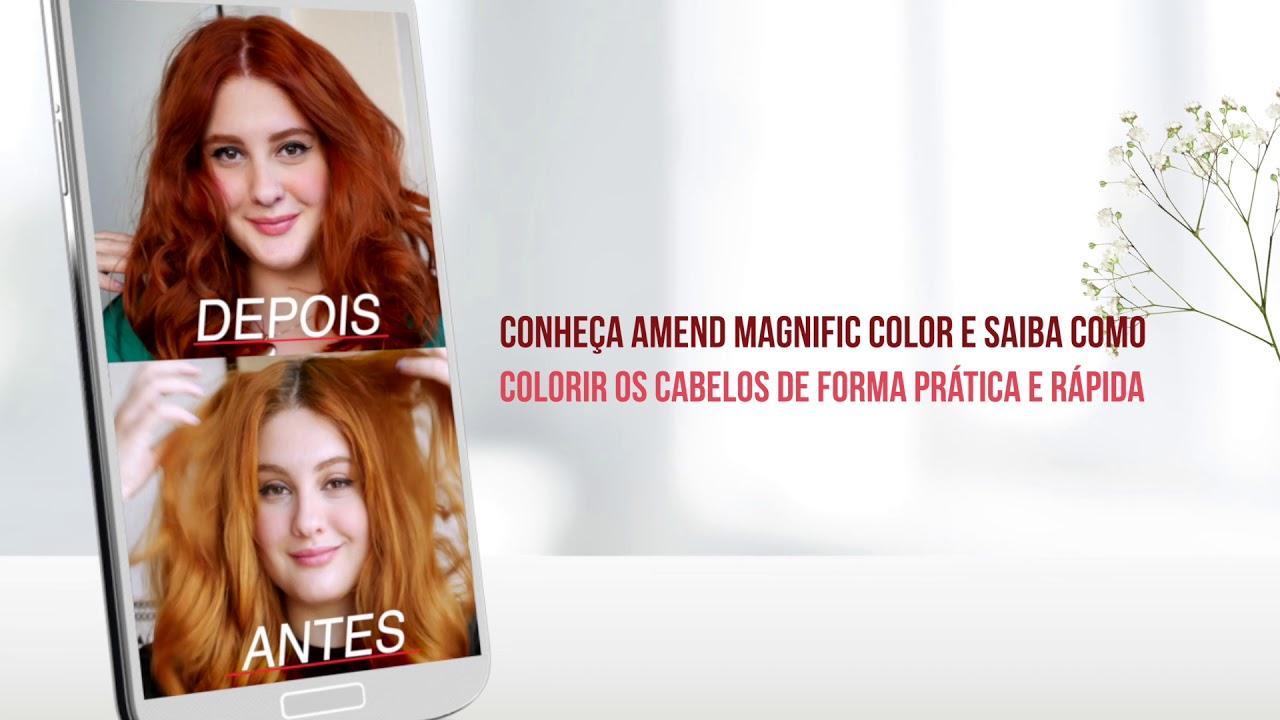 Colorindo os cabelos em casa - Amend Magnific Color