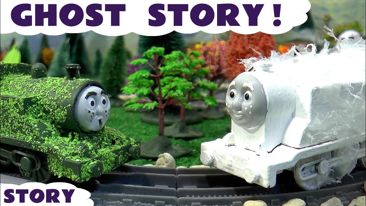 Thomas and Friends Spooky Ghost Game | Halloween | Toy Trains Tom Moss fools with Fireworks TT4U