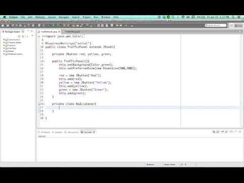 Java Tutorial - 46 - Using inner classes to Handle GUI Events