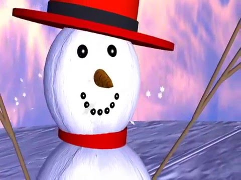MERRY CHRISTMAS SNOWMAN 3D ANIMATION e CARD