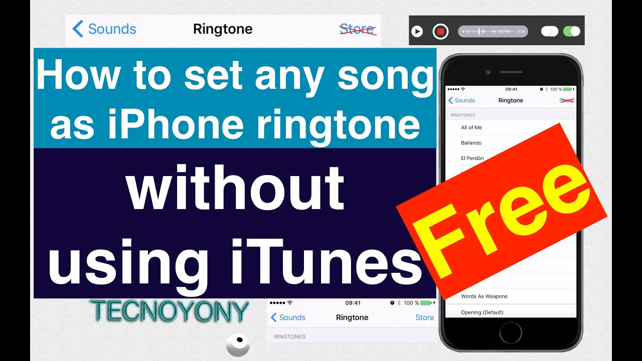 How to make a ringtone on iphone without using itunes