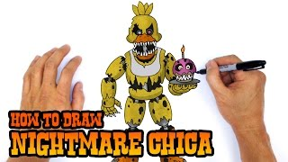 How to Draw Nightmare Chica | Five Nights at Freddy