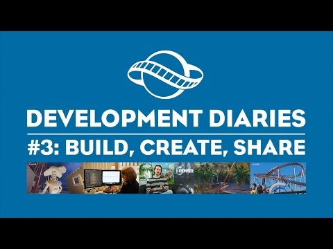 Planet Coaster - Dev Diary #3 - Build, Create, Share