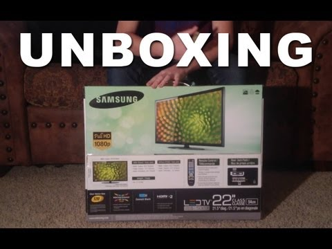 "Samsung 22"" LED 1080p HDTV Unboxing"