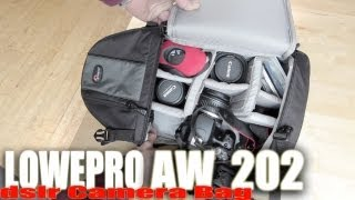 Lowepro AW 202  - Review - Great Camera BAG!!