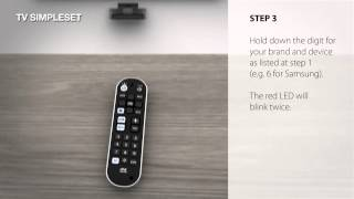 universal remote control urc 6820 zapper how to setup by simpleset