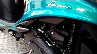 Yamaha Fascino Blue Color At Showroom Looks   india
