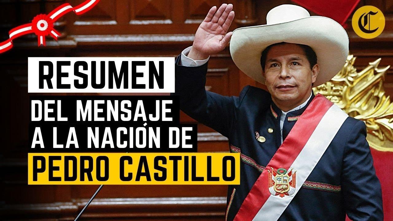 PEDRO CASTILLO: Así fue el primer discurso del presidente de la República | RESUMEN