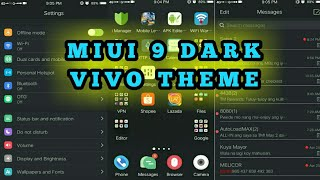 Miui 9 Dark Theme For Vivo Phones