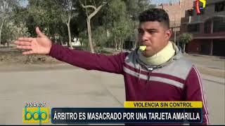 San Martín de Porres: árbitro es agredido por sacar tarjeta amarilla