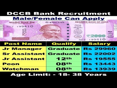 District Central Co-operative Bank Recruitment 2017 | Latest Bank jobs | 8th - 12th pass jobs