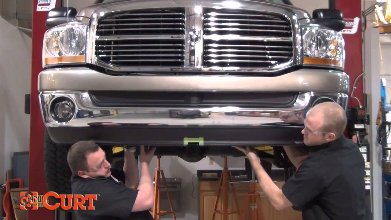 Dodge Ram 2002 >> Front Hitch Install CURT 31320 for 2002-2008 Dodge Ram 1500 - YouTube
