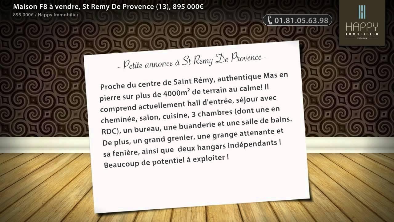 Maison f à vendre st remy de provence  u ac youtube