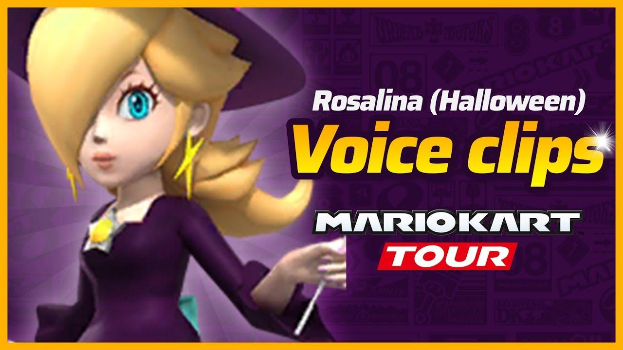 Rosalina Halloween Voice Mario Kart Tour Youtube