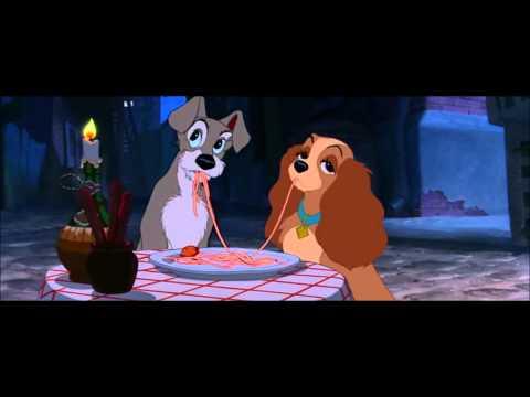 Собаки едят спагетти мультфильм