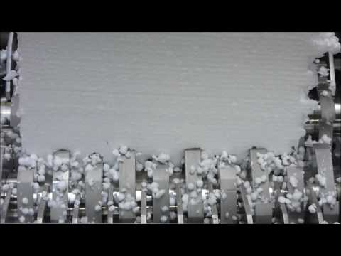 Пенопласт в шредере вызывает мурашки