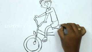 How to Draw a Cycle Riding