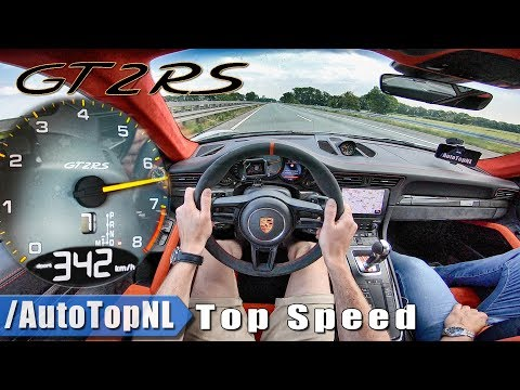 PORSCHE 911 GT2 RS | 342km/!! | AUTOBAHN POV TOP SPEED by AutoTopNL