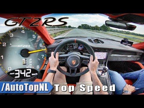PORSCHE 911 GT2 RS | 342km/!! | AUTOBAHN POV TOP SPEED by AutoTopNL