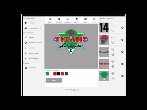 change a baseball design to lacrosse design