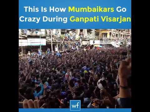 Crazy Mumbaikar Ganpati visarjan 2017