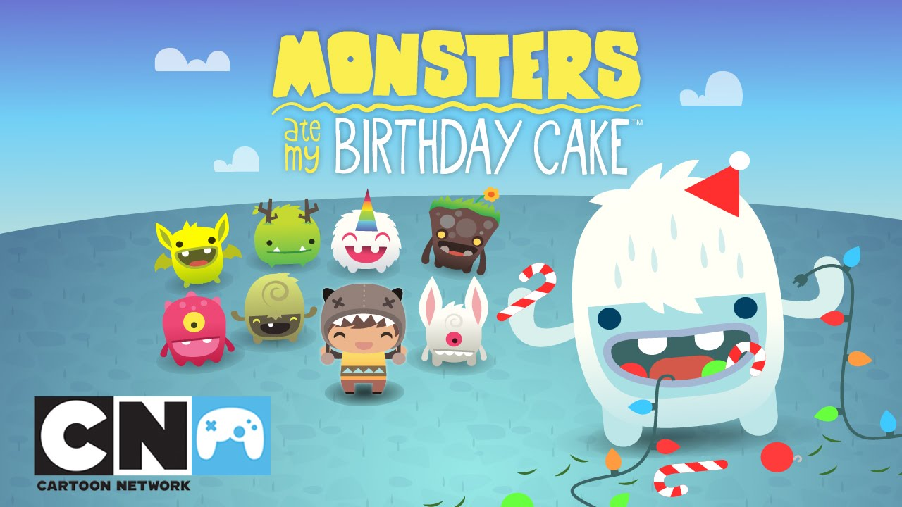 Monsters Ate My Birthday Cake Winter Update Mobile App Cartoon