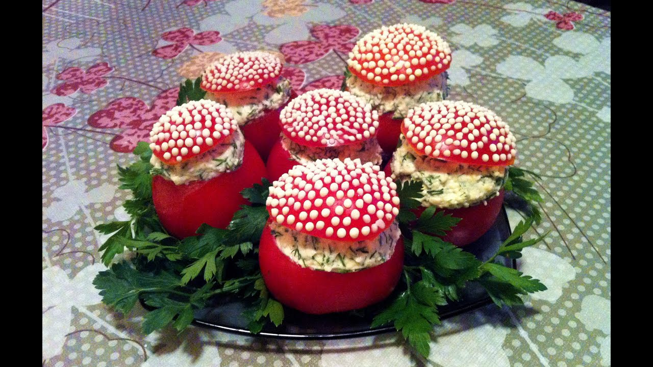 Помидоры Фаршированные Плавлеными Сырками / Stuffed Tomatoes / Закуска / Простой и Вкусный Рецепт