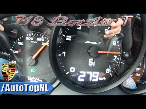 NEW! Porsche 718 Boxster T 0-279km/h ACCELERATION & TOP SPEED by AutoTopNL