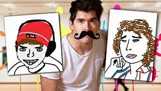 PINTANDO YOUTUBERS !! *Adivinalos*