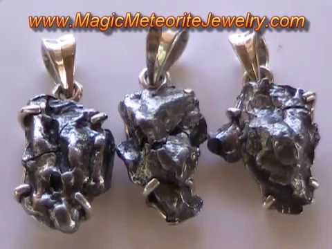 """MAGIC METEORITE JEWELRY ~ Rare and Highly Prized """"Gold Nuggets"""" of the Sky!"""