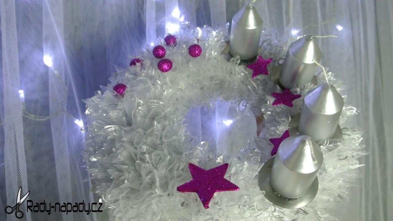 c2ec0851f Vánoční adventní věnec z organzy (Christmas advent wreath) - YouTube